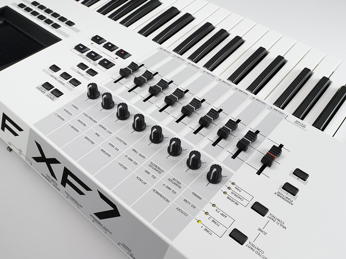 Motif XF7 Synthesizer 76 Key, White