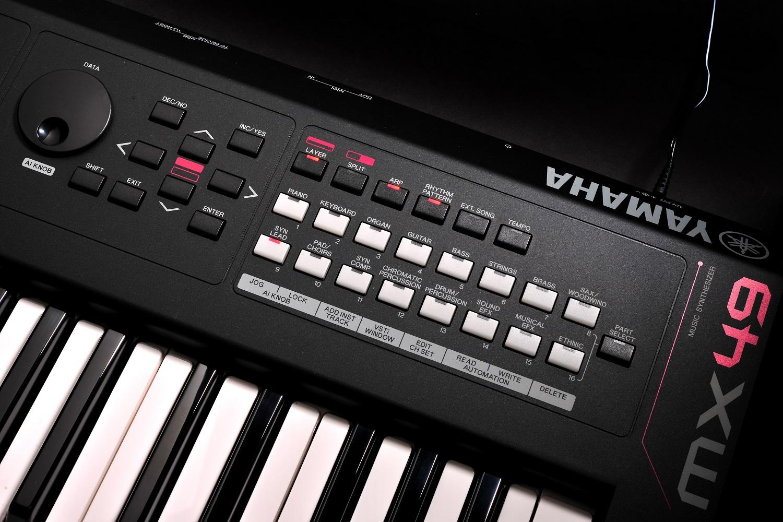 yamaha mx49 synthesizer compact design 49 keys includes cubase ai yamaha music london. Black Bedroom Furniture Sets. Home Design Ideas