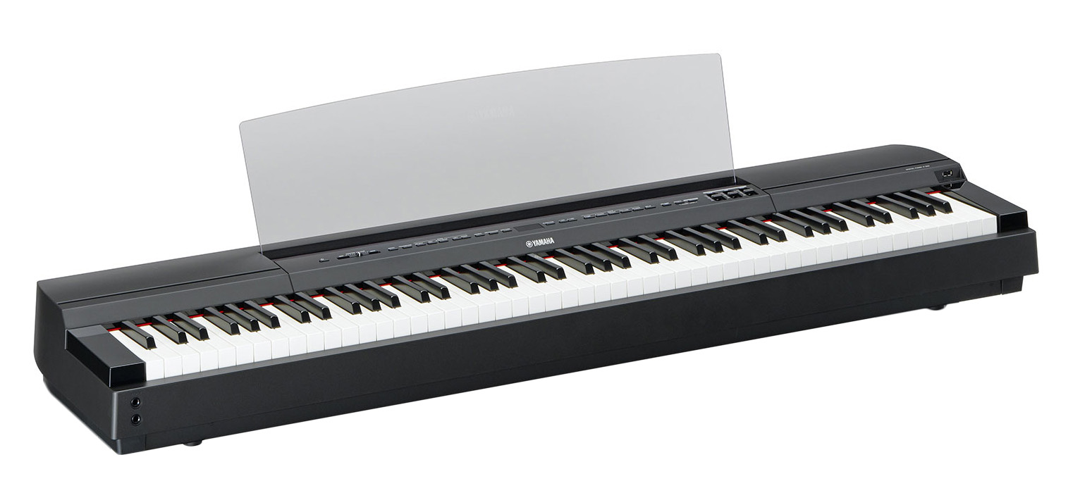 yamaha p 255 digital piano in black finish yamaha music