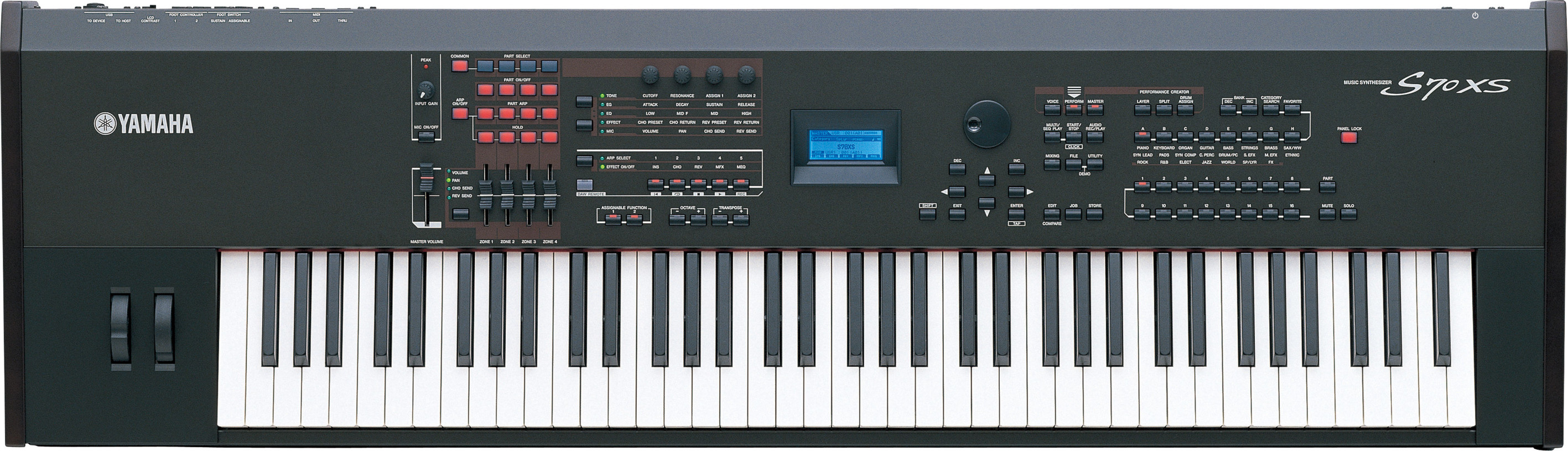 Yamaha s70xs professional synthesizer stage piano fully weighted 76 key yamaha music london for Yamaha fully weighted keyboard